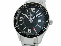 Ball Watch Engineer Master 2 Pilot Gmt Gm3090c-saj-bk 43mm Black Used Excellent