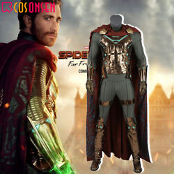 Spider-man Far From Home Mysterio Quentin Beck Cosplay Costume Deluxe Outfit Lot