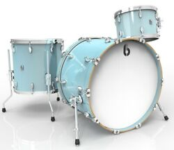 British Drum Co Legend Club 3pc Drum Set 121622 Skye Blue