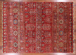 Hand Knotted Wool Tribal Gabbeh Area Rug 5and039 9 X 7and039 10 - Q3116