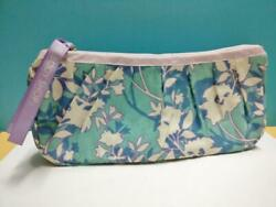 Rare Singapore 2007 The Body Shop Blue Cosmetic Floral Fabric Pouch G018 $12.00