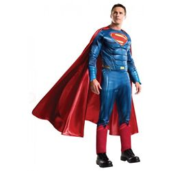 Superman Costume Adult Batman v Superman Dawn of Justice Halloween Fancy Dress