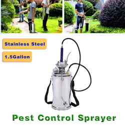 6l Handheld Stainless Steel Sprayer Cleaning Pest Control 1.5 Gal Manual Sprayer