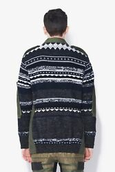 3.1 Phillip Lim Embroidered Knit Two Sided Parka