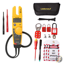 Fluke T5-1000 Voltage And Continuity Tester And Mcb/rcd Lock Out/off Kit Los-k1