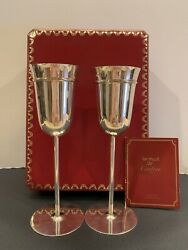 Les Must De Trinity Sterling Silver Wedding Toasting Flutes Set Of Two