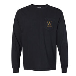 NCAA Wofford Terriers PPWOFF01 Unisex Long Sleeve Pocket T-Shirt