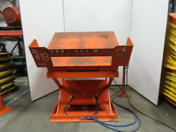 4000lb Pneumatic Scissor Lift And 30° Tilt Table 54x48 Top 15-1/2 To 39 Heigh