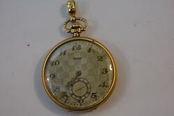 ANtique DOXA Pocket Watch 14k Gold 48.8mm 16 JEWEL Runnng and keeping time