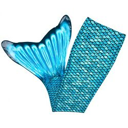 Factory Seconds Kids Size Fin Fun Mermaid Tail Skins for Swimming No Monofin