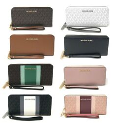 Michael Kors Jet Set Travel Large Travel Continental Wristlet Wallet Clutch $68.94