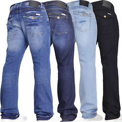 Mens Stretch Bootcut Jeans Wide Leg Flared Denim Pants Limited Time Offer