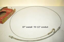 Lisle Bx1314 Emergency Parking Brake Cable Antique With Eye Hook End