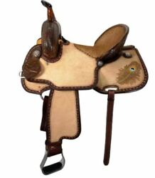 Scott Thomas 15andrdquo Peacock Feather Barrel Racing Saddle Br500 Wide Tree New