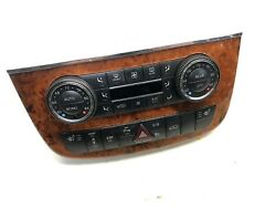 06-09 Mercedes W251 R350 R320 DUAL ZONE Climate Control Switch Panel Wood