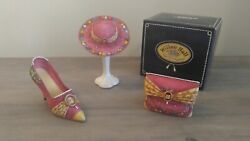 Willow Hall Pearl Drops 3 Piece Set Shoe Hat And Purse