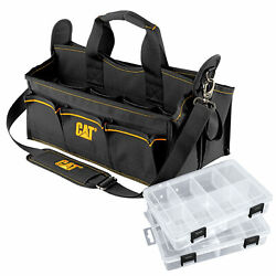 Cat 17 in. Tech Tool Tote 20 Pockets 2 Hardware Bins 1200D Polyester 240045 $76.95