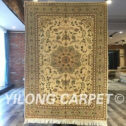 Clearance Yilong 4and039x6and039 Handmade Wool Rug Traditional Blanket Carpet 2048