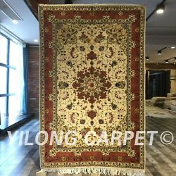Clearance Yilong 4and039x6and039 Antique Handmade Wool Rug Blanket Woollen Carpets 2052