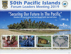Tuvalu Stamps 2019 Mnh 50th Pacific Islands Forum Leaders Fruits Cultures 4v M/s