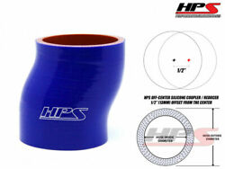 Hps 3.5 89mm 4-ply Silicone Intercooler Turbo Pipe Offset Coupler Hose Blue