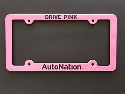 New Pink Metal License Plate Frame DRIVE PINK Auto Nation Breast C