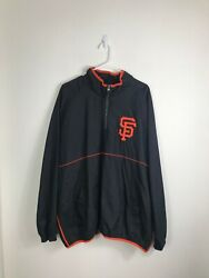 Mens XXL 2XL Majestic MLB SF Giants Authentic Collection 14 Zip Jacket