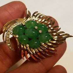 TRIFARI SIGNED JEWELS OF INDIA PIN WITH ALL ORIGINAL STONES EXCELLENT CONDITION