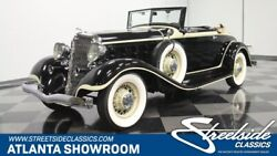 1933 Chrysler Imperial CQ Convertible classic rare vintage chrome imperial roadster 298 straight 8 3-speed manual soft