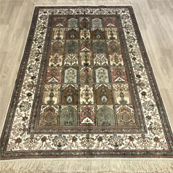Yilong 4and039x6and039 Four Seasons Silk Hand Knotted Carpets Classic Handmade Rug 148ab