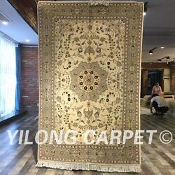 Clearance Yilong 4and039x6and039 Handmade Wool Area Rug Handknotted Woolen Carpet 2101