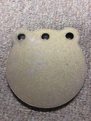 A36 Steel Target Gong 8 X 5/8 Three Hole Pistol Plate Idpa With Free Hooks