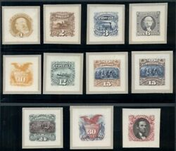 Us 112p2/122p2 1andcent - 90andcent Complete Set Of Roosevelt Small Die Proofs Scott 4k