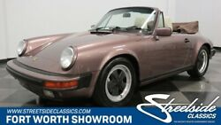 1987 Porsche 911 Carrera Cabriolet Clean History w 76k Miles! CATX Car Stock w Upgraded AC Spcl Order Colors