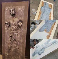 1 Life Size Han Solo in Carbonite Star Wars 1:1 Scale Movie Prop