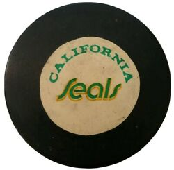 California Seals Rawlings Official Size Game Puck Stamped Made N Canada Nhl Rare