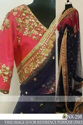 Indian Designer saree Wedding Party wear Ethnic Fancy Dynamic Saree With Blouse