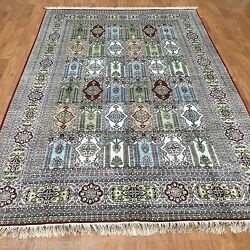 Yilong 6and039x9and039 Antique Vintage Garden Scene Carpet Handmade Silk Classic Rugs Y80b