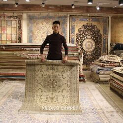 Clearance Yilong 4and039x6and039 Natural Handmade Wool Rug Hand Woven Shaggy Carpet 2100