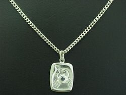 925 Sterling Silver Chain And Pendant/zodiac Sign Cancer/383cm/58g