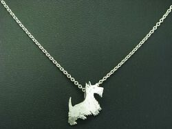 835 Silver Necklace And 925 Sterling Silver Pendant In Dog Form / 3,9g/48,0 Cm