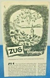 Vintage Swiss Brochure Zug And Surroundings Tourist Travel Guide Pictures Map