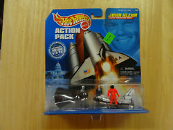 Hot Wheels 1998 John Glenn Mission Action Pack Space Shuttle Discovery New