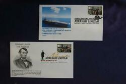 Abraham Lincoln Politician 42c Stamp 2 Fdcs Compuchet And Cl Cachets Sc4382 06319