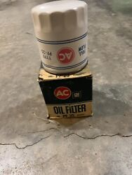 Ac Pf 25 Oil Filter Original Type White W/ Blue And Red Silk Screen Hard To Find