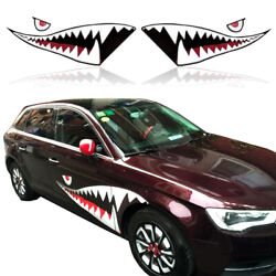 A Shark Modeling Vinyl Racing Vehicle Body Speed Decal Sticker J2