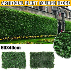 2612 Plant Artificial Mat Greenery Wall Hedge Grass Fence Foliage Panel Decor