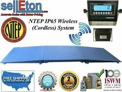 Ntep Wireless Cordless 48 X 60 4and039 X 5and039 Floor Scale 2 Ramp 5000 Lbs X 1 Lb