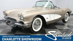 1961 Chevrolet Corvette -- classic vintage chrome restored c1 vette sbc manual transmission fawn soft top