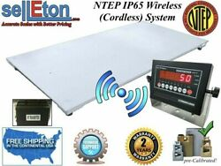 New Ntep Wireless Cordless 60 X 84 5and039 X 7and039 Floor Scale 2000 Lbs X .5 Lb